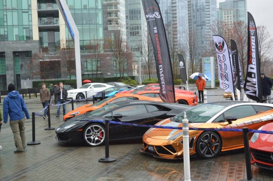The rain didn't stop the admirers on the Exotic drive-up on the first day